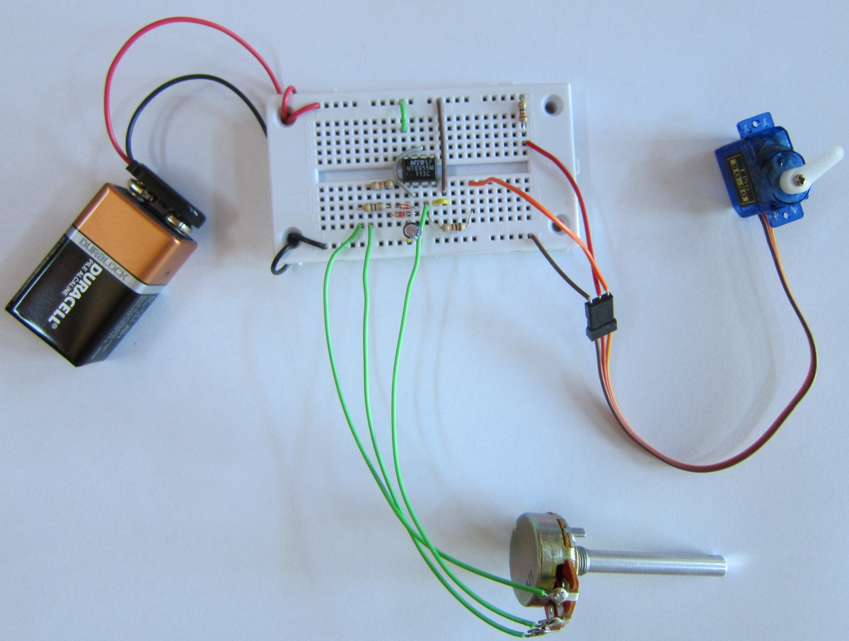Project: Controlling a servo motor | Electronics For Artists